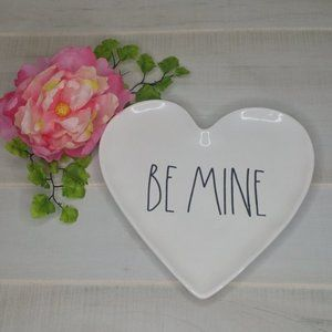 Rae Dunn BE MINE Heart Shaped Plate